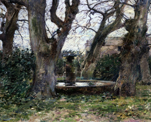 Italian Landscape With A Fountain by Theodore Robinson