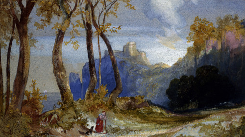 In The Hills by Thomas Moran