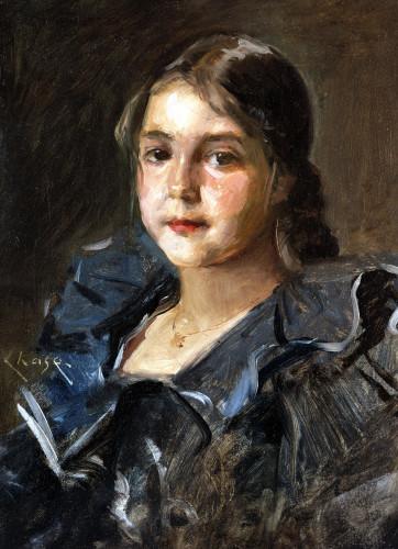 Portrait Of Helen Velasquez Chase by William Merritt Chase