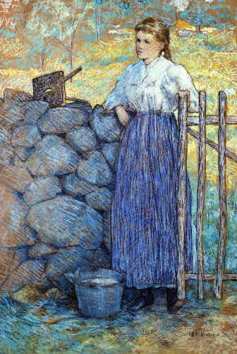 Waiting At The Gate by Julian Alden Weir