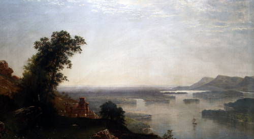 The Mississippi River Bluffs Near Winoma by Alfred Thompson Bricher