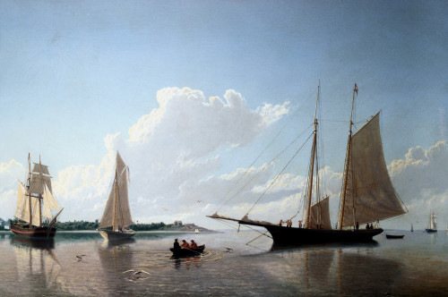 Stowing Sails by William Bradford
