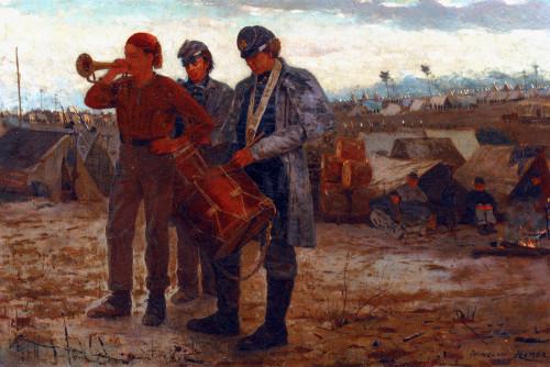 Sounding Reveille by Winslow Homer