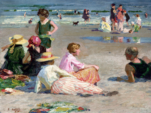 Manhattan Beach by Edward Henry Potthast