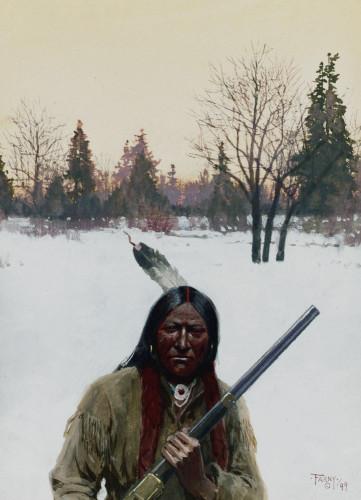 Hunter by Henry F. Farny