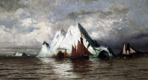 Fishing Boats And Icebergs by William Bradford