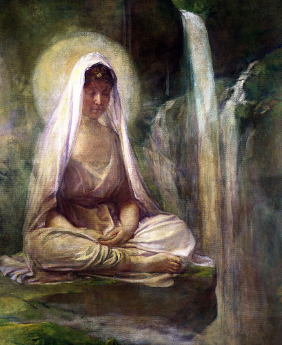 Kwannon Meditating On Human Life by John La Farge
