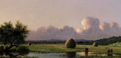 Haystacks by Martin Johnson Heade