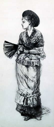 Girl With Fan by Winslow Homer
