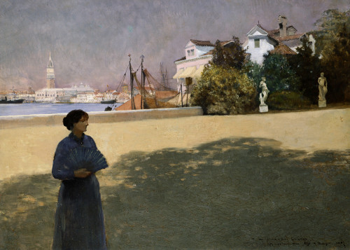Along The Grand Canal by Otto Henry Bacher