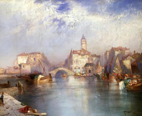 Venetian Canal by Thomas Moran