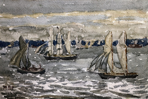 A Grey Day - Boston Harbor by Maurice Prendergast