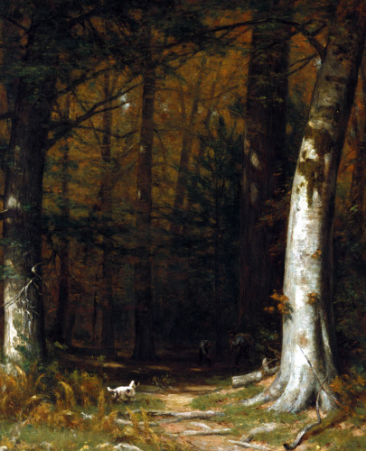 Gathering Twigs by Thomas Worthington Whittredge