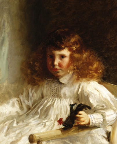 Portrait Of Leroy King As A Young Boy by John Singer Sargent