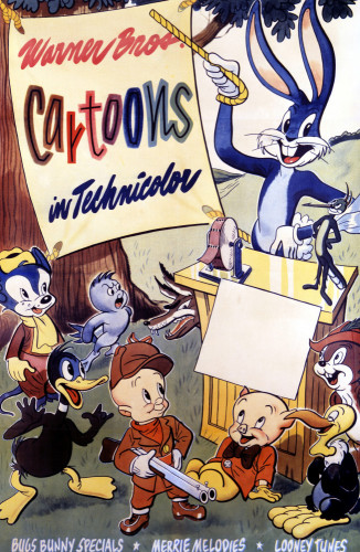 Warner Brothers Cartoons, 1946, Bugs Bunny by US Movie Poster