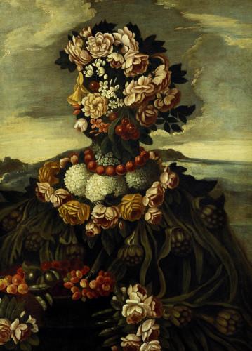 Spring, One Of The Four Seasons by Giuseppe Arcimboldo