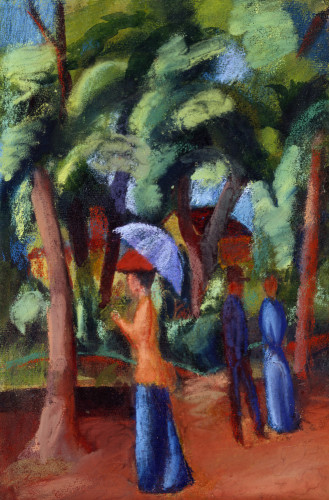 A Stroll In The Park by August Macke