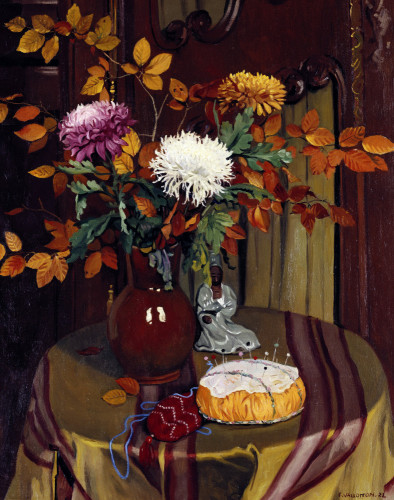 Chrysanthemums And Autumn Foilage by Felix Vallotton