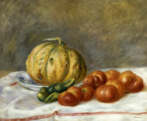 Melon And Tomates by Pierre Auguste Renoir