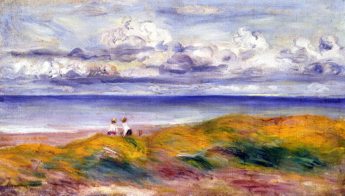 On The Cliffs by Pierre Auguste Renoir