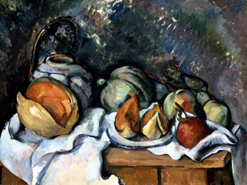 Still Life With Fruits And A Ginger Pot by Paul Cezanne