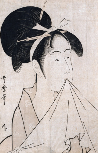 Portrait Of Okita Of The Naniwaya by Kitagawa Utamaro