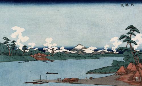 Rokugo Ferry by Keisai Eisen