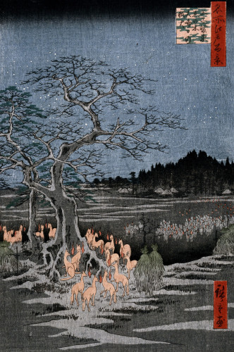 New Year's Eve Foxfires At The Nettle Tree, Oji by Ando Hiroshige