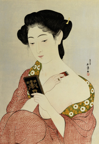 A Woman In Underclothes by Hashiguchi Goyo