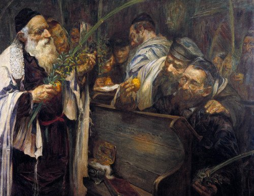 Sukkot In The Synagogue by Leopold Pilichowski