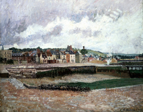 Afternoon, The Duquesne Basin At Dieppe, The Sea-Bed by Camille Pissarro