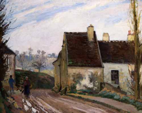 The Cottages Near D'Osny by Camille Pissarro