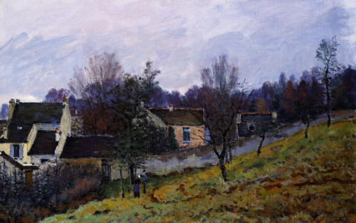 Autumn In Louveciennes by Alfred Sisley