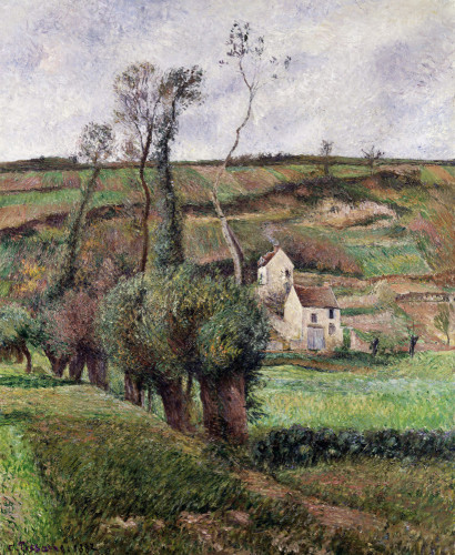 Cabbage Hill In Pontoise by Camille Pissarro