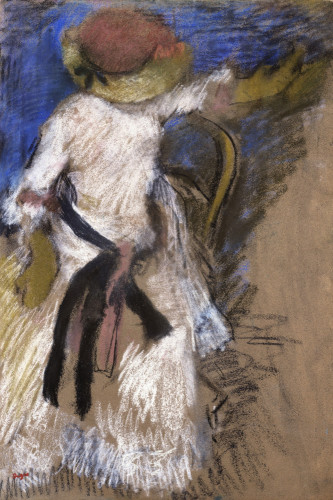 Seated Woman In A White Dress by Edgar Degas