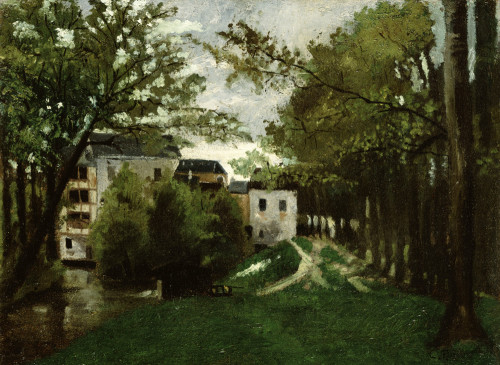 The Windmill At The La Roche Guyon by Camille Pissarro