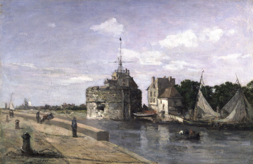 The Tower Of Francis I At Le Havre by Eugene Louis Boudin