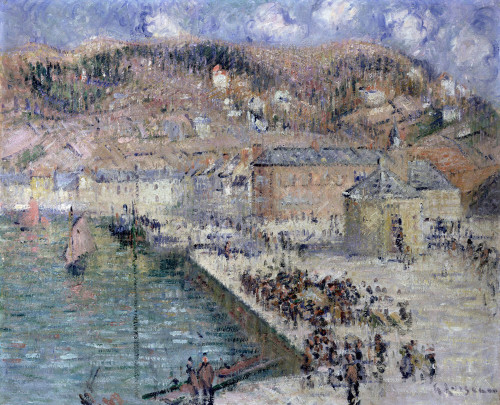 The Fish-Market, Fecamp by Gustave Loiseau