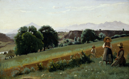 Landscape At Mornex by Jean-Baptiste-Camille Corot