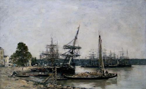 Bordeaux Boat Moorings On The Garonne by Eugene Louis Boudin