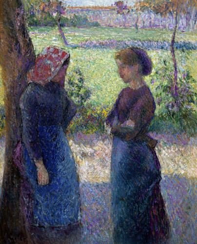 The Conversation by Camille Pissarro