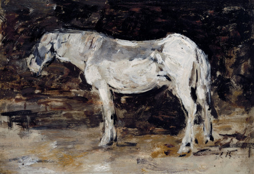 White Horse by Eugene Louis Boudin