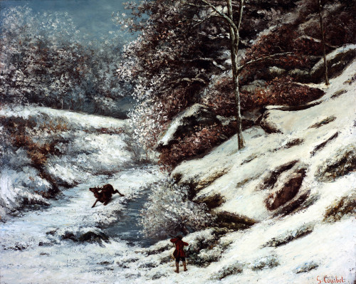 The Wounded Stag by Gustave Courbet