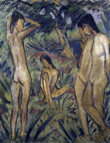 Bathing, Badende by Otto Muller