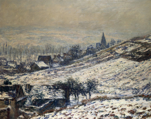 Winter In Giverny by Claude Monet
