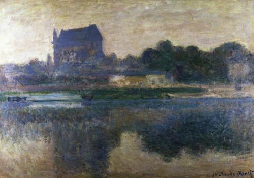 Vernon Church In A Fog by Claude Monet