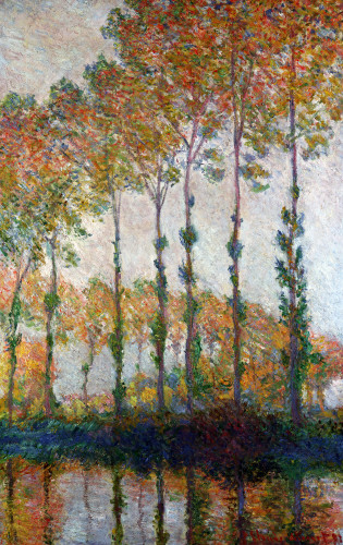 Poplars On The Banks Of The L'Epte, Autumn by Claude Monet