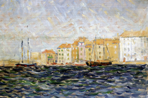 The Port Of St. Tropez by Christie's Images