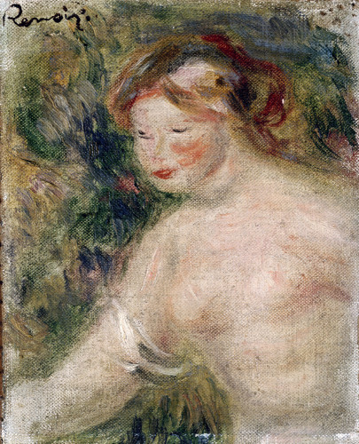 A Female Torso by Pierre Auguste Renoir