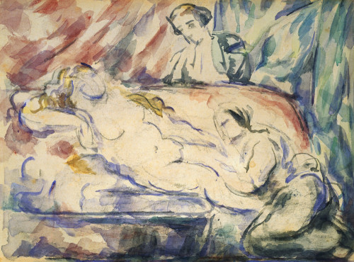 The Courtesan's Toilet by Paul Cezanne